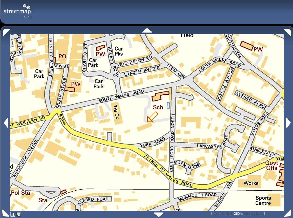 Trinity centre map